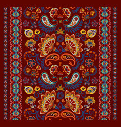 Indian seamless pattern wallpaper with paisley vector
