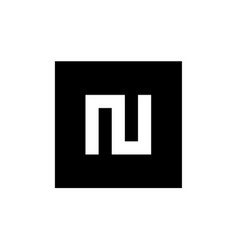 Initial letter n logo icon vector