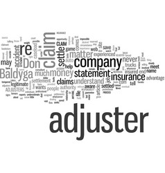 Insurance adjusters how they work and how they vector
