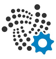 Iota setup gear flat icon vector