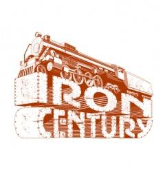 Iron century grunge vector