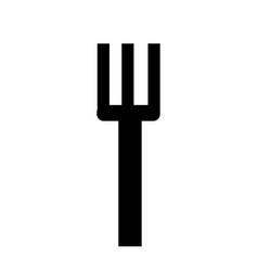 isolated fork design vector image