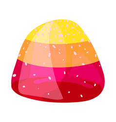 jelly bonbon icon cartoon style vector image