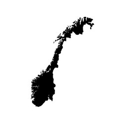 Map norway isolated black on vector