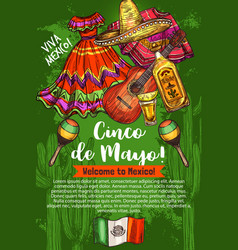 mexican holiday cinco de mayo travel to mexico vector image