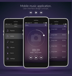 mobile user interface design concept vector image
