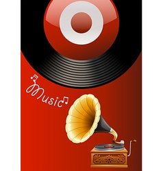 Music box vector