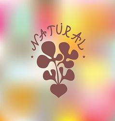 Natural food Embleme vector image