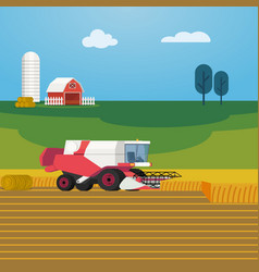 On farming and agriculture vector