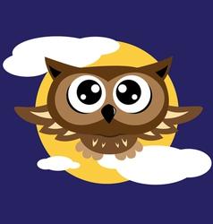 Owl flying vector image