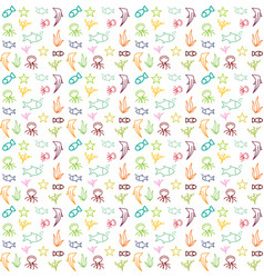 pattern fish color vector image