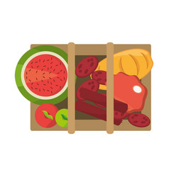 picnic delicious food vector image