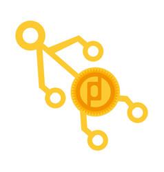 Protoshare money golden coin virtual vector