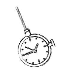 Retro pocket watch icon vector