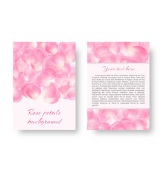 romantic design with rose petals vector image