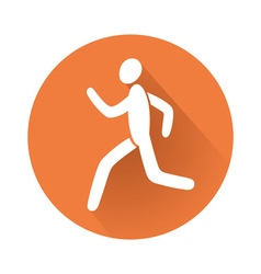 running man symbol vector image