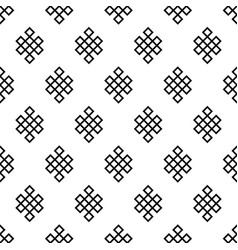 Seamless pattern of the endless knots palbeu vector