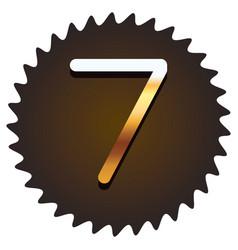 Seven font number vector