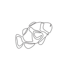 Single continuous line drawing beauty vector