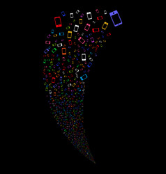 Smartphone random stream vector