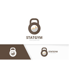 sport and graph logo combination gym and vector image