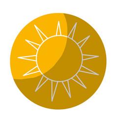 Sticker nice light sun image vector