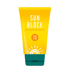 sunscreen care sun protection vector image