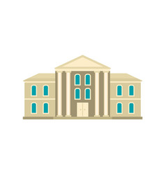 Supreme courthouse icon flat style vector