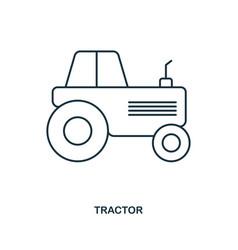 tractor icon outline style icon design ui vector image