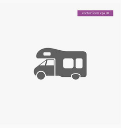 Trailer icon simple vector
