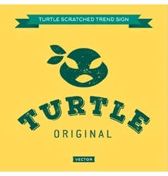 Turtle mouth eye bandages green muzzle face vector