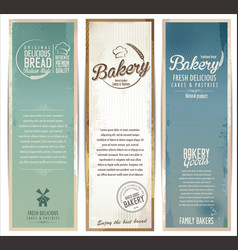 vintage bakery banner collection vector image