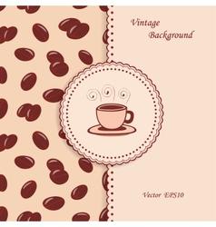 Vintage Coffee Background vector image