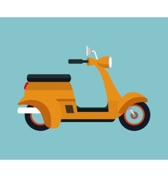 Yellow motorcycle scooter vector