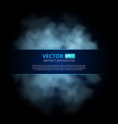 Blue color fog or smoke isolated on transparent vector