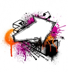 graffiti arrow background vector image
