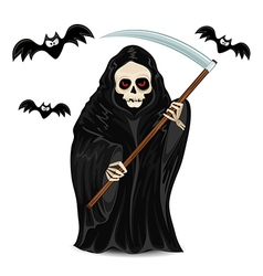 Grim Reaper isolated for Halloween vector image