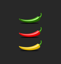 hot chili pepper logo mockup mexican jalapeno red vector image