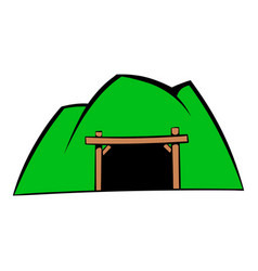 mountain mine icon icon cartoon vector image vector image
