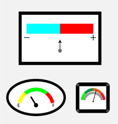 Set of indicators with colored spectral indicator vector image vector image