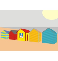 Beach Houses vector image vector image