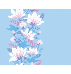 Birds among blossoms vertical seamless pattern vector image vector image