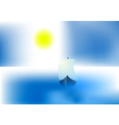 bright sun ship vector image vector image