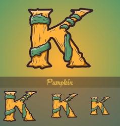 Halloween decorative alphabet - K letter vector image vector image