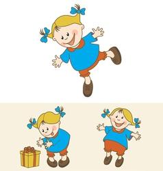 happy kid set vector image vector image