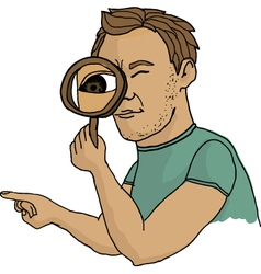 man seeking vector image vector image