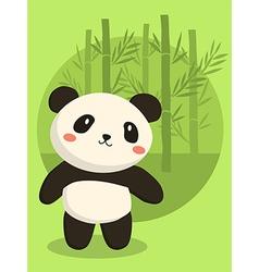 Panda Bear Green Bamboo vector image vector image
