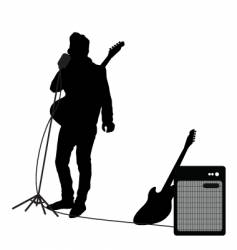 rocker at mic vector image vector image