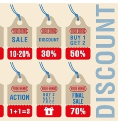 Sale discount labels set vector image