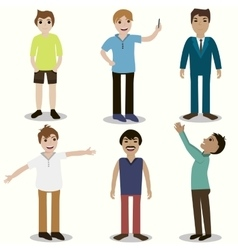 set of guys different nationality appearance vector image
